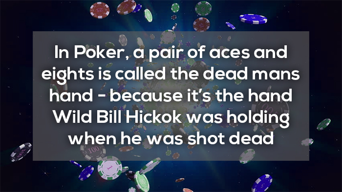 dead mans hand, bill hickok a pair of aces and eights crazy facts about online gambling