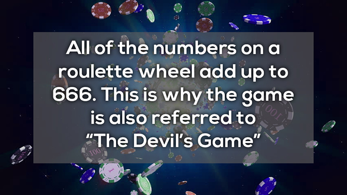 all number on a roulette wheel add up to 666 crazy facts about online gambling