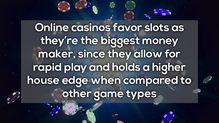 online casinos favor slots more rapid play crazy facts about online gambling
