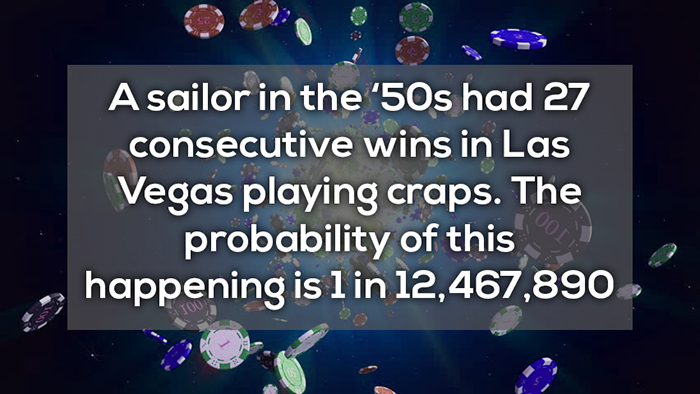 27 consecutive wins playing crabs crazy facts about online gambling