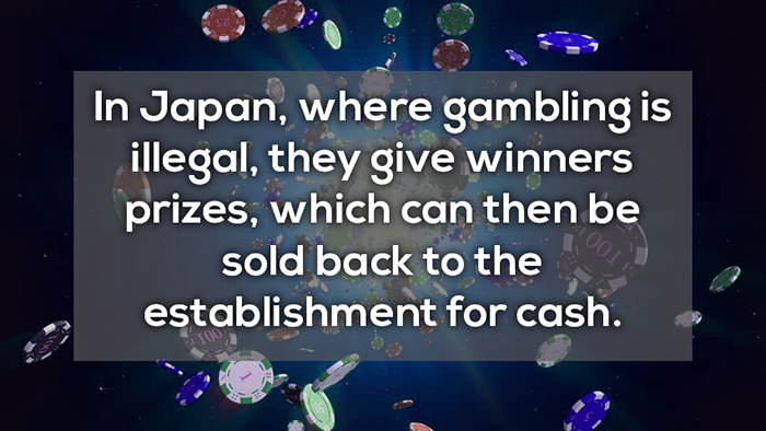 gambling in japan is illegal, giving winners prizes crazy facts about online gambling