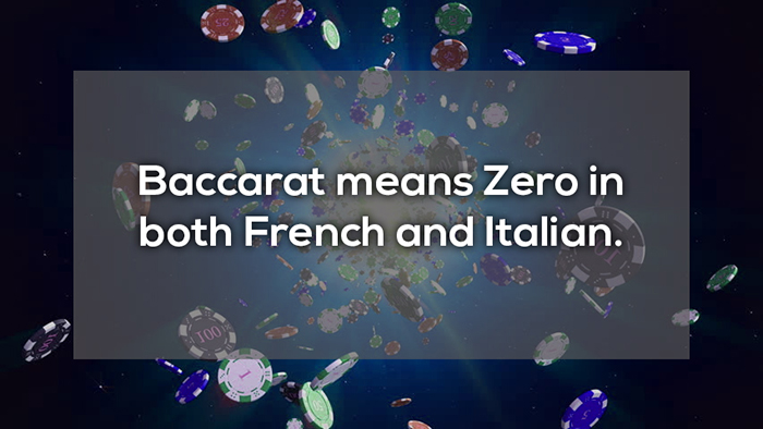 baccarat means zero in both french and italian crazy facts about online gambling