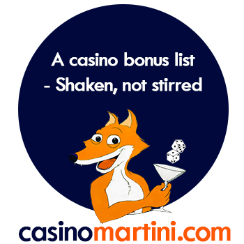 Casinomartini casino bonus list UK