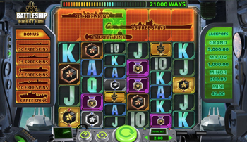battleship direct hit video slot gameplay